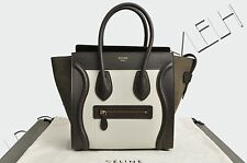 CELINE PARIS Authentic New Micro Luggage Tote Bag Multicolour Bullhide Leather
