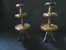 Dollhouse Miniature Furniture Victorian Pair (2) Etageres or Tiered Tables NIB