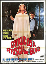 QUALCOSA STRISCIA NEL BUIO MANIFESTO CINEMA DE SETA HORROR 1971 MOVIE POSTER 2F