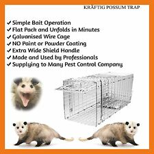 2 X TRAP HUMANE POSSUM CAT  RAT RABBIT BIRT ANIMAL FOLDING CAGE CATCH CATCHER