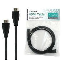 Lloytron a499 2m Base Hdmi Tv Bluray Plomo 1.3 C Cable 720p 1080i 1080p Negro Nuevo