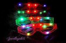 20pcs Light-Up LED Flashing Glasses Rave Sunglasses Blinking Rave Glasses EDC