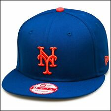 New Era New York Mets Snapback Hat Cap All Royal/Orange/Grey Bottom mlb 9fifty