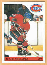 1985-86 OPC Grey-Back Test, Canadiens' Mats Naslund, Mint, Plus Regular Issue