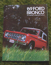 1969 Ford Bronco Sales Brochure 69