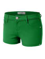 Womens 12Color Casual Skinny Jeggings Stretchy Ponte Fitted Shorts Comfort[WP09]