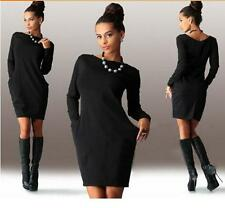 New Sexy Women Autumn Casual Long Sleeve Evening Party Dress Cocktail Mini Dress