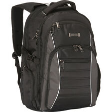 Kenneth Cole Reaction No Looking Back Backpack - Black Laptop Backpack NEW