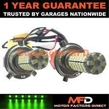 2X CANBUS GREEN H4 120 SMD LED DIPPED BEAM BULBS FOR FOR NISSAN ALMERA PRIMERA