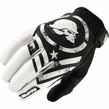 L Large Metal Mulisha Optic MX Gloves Motorbike Motorcycle BMX Black White