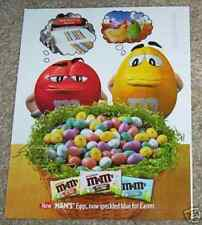 2003 ad page -M&M's candy candies- Easter speckled eggs Cute 1-PAGE ADVERTISING