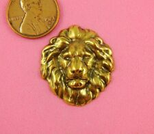 VINTAGE DESIGN ANT BRASS MEDIUM LION'S HEAD-2 PC(s)