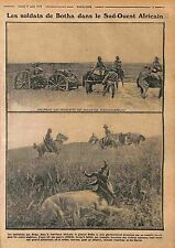 Soldiers de Botha South Africa Hunter Hunting Afrique du Sud 1915 WWI
