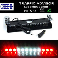 12LED FLASH STROBE BAR DASH POLICE EMERGENCY WARNING LIGHT RED WHITE 12/24V