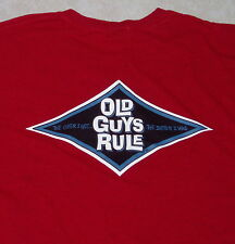 New OLD GUYS RULE T Shirt (L) Large Red Tee Beer mens adult tee