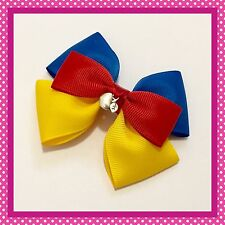 Handmade Large Snow White Inspired Hair Bow Clip Cosplay Bounding Princess