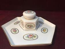 Vintage Beautiful VISTA ALEGRE Inkwell with Plate Mid Century PORTUGAL