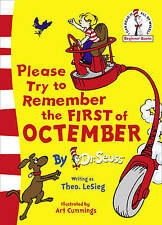 PLEASE TRY TO REMEMBER THE FIRST OF OCTEMBER Dr Seuss Kids Reading Story Book
