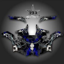 Polaris RZR 900 XP UTV Wrap Graphics Decal Kit 2011-2014 Skull Rider Blue