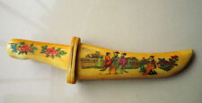 Rare old Chinese bone SWORD Painting belle Knife