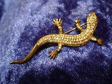 schöne, alte Brosche__Eidechse (Salamander)__925 Silber__mit Steinen__