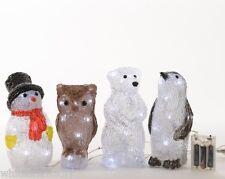 Kaemingk LED indoor Acrylic 20cm Cool White Christmas Decoration battery
