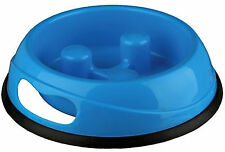 BlueTrixie Dog Puppy Slow Feed Bowl Non Slip Prevent Bloat & Gulping Med 25032