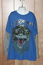 BOY'S ED HARDY LONG SLEEVE SHIRT-SIZE: LARGE