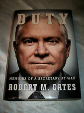 Duty Memoirs of a Secretary at War by Robert M Gates SIGNED 1st/1st 2014 HCDJ