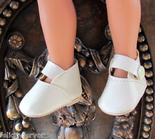 """14"""" DOLL SHOES, 55 mm IVORY ANKLE STRAPS for PLAYMATES HEARTS, H4H & G2G & OTHER"""