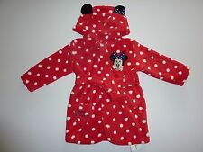 Disney MINNIE MOUSE Cute Little Red Polka Dot Dressing Gown Size 6-9 Months NWT