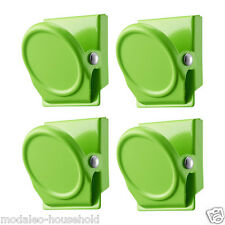IKEA magnetic Clips OLEBY Magnet Set 4 Piece Green Color Fridge not magnet-pup10