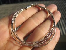 999 to 970 fine silver hill tribe bead bracelet Thailand jewelry art A91