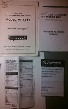 Small radio vintage literature lot Emerson,lenoxx,Casio,Sharp,Major Avanti