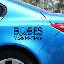 Boobies Make Me Smile Car Stickers Funny Bumper Sticker Tailgate Car Body Decal