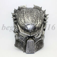 Alien Vs Predator Warrior Costume Fancy Dress Halloween Silver Masquerade Mask