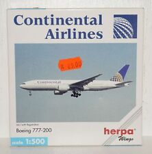 Herpa Wings Continental Airlines Boeing 777-200 mit Registration 1:500 506489
