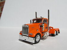 DCP 1/64 SCALE W-900 KENWORTH DAY CAB ORANGE - TRACTOR ONLY