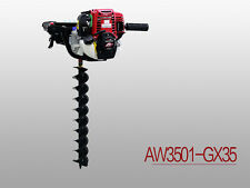 Real Honda GX35 Earth Auger!! Power Auger, 4 STROKE, 35.8cc, Free Shipping!!