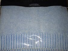 Ralph Lauren Cotton FULL/QUEEN Bed Blanket Indigo Montauk Knit Washed Blue NEW