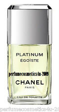 EGOISTE PLATINUM CHANEL PARIS FOR MEN 1.7 OZ / 50 ML EAU DE TOILETTE SPRAY NEW