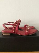 Chanel Chain Leather Sandals 37 Uk 4