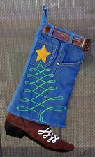 Cowboy Boot & Denim Jeans Christmas Stocking Hobby Lobby