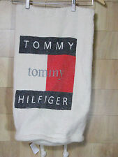 VTG Hilfiger Big Flag Cotton Rucksak Bag Backpack Sailing Nautical Large Weave