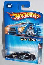 Hot Wheels 2005 Rebel Rides #078 W-Oozie Wal-Mart Black w/ MC 3SPs