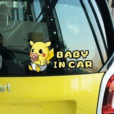 Pokemon Pikachu Notice Remind Baby In Car Windsheild Bumper Decals Car Stickers