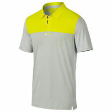 Men's Oakley Golf Alignment S/S Polo Shirt Blazing Yellow Size XL