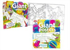 COLOURING BOOK KIDS ART&CRAFT GIANT PULLING POSTERS & 2 STICKER SHEETS (FN1026)