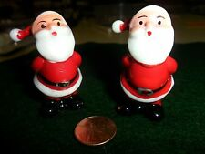 Vintage 2 Plastic Santas with Hands Behind Back