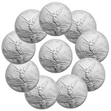 2016 Mexico 1 Troy Oz .999 Silver Libertad Onza Lot of 10 Coins SKU40458